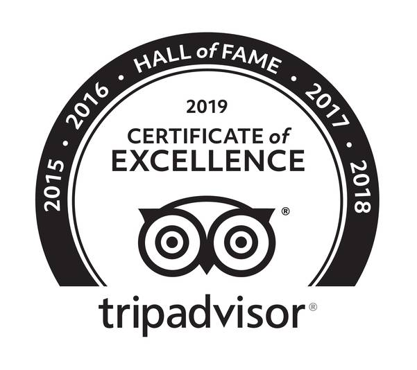 5 years in a row - 5 Jahre in Folge - TRIPADVISOR Certificate of Excellence